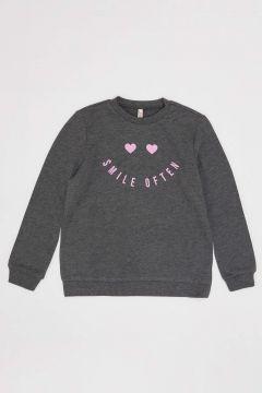 DeFacto Kız Çocuk Baskılı Sweatshirt(125934145)