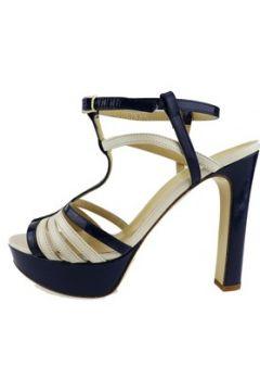Sandales Twin Set TWIN-SET sandales bleu cuir verni beige cuir AH746(88521339)