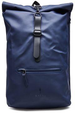Roll Top Rucksack Rucksack Tasche Blau RAINS(114631971)