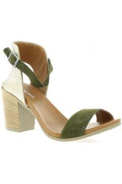 Sandales So Send Nu pieds cuir velours(127910335)
