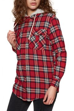 Chemise Femme SWELL Hooded - Red Check(111319846)