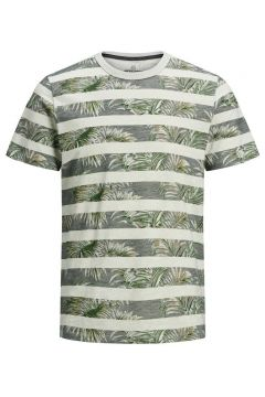 JACK & JONES Botaniskt Tryck - T-shirt Man Grå(112240314)