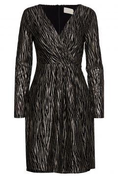 Ilsabeth Dress Boozt Kleid Knielang Schwarz MINUS(114164207)