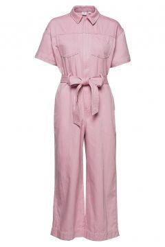 Utility Tie-Belt Jumpsuit Jumpsuit Pink GAP(116469604)