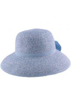 Chapeau Julien Dulac Chapeau paille Ischia en chiné Bleu ciel et Blanc(115396374)