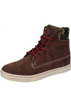 Chaussures enfant Blaike sneakers marron cuir textile AD698(115393763)