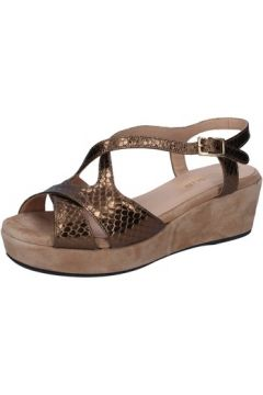 Sandales Allison sandales bronze cuir python daim BZ307(115394100)