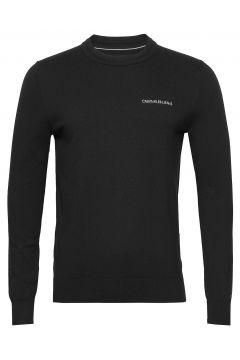 Essential Crew Neck Sweater Strickpullover Rundhals Schwarz CALVIN KLEIN JEANS(115541585)