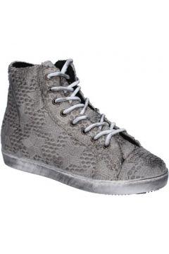 Chaussures Mancapane sneakers gris textile BX169(98483820)