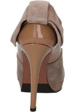 Chaussures escarpins Gianni Marra escarpins beige daim cuir verni marron AD114(115395326)