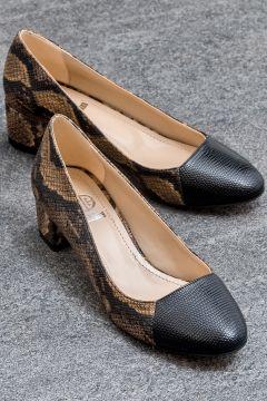 Elle Shoes CAROLINNE Kahverengi Kadın Topuklu Ayakkabı(121272957)