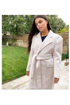 Fashion Union Petite - Cappotto avvolgente con cintura-Crema(123070488)