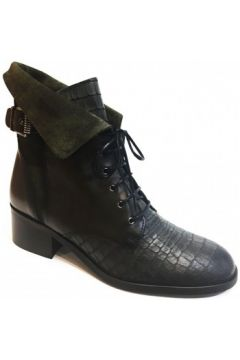 Bottines PintoDiBlu Boots plates Kaki(115590365)