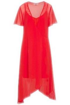 Robe Tommy Jeans Robe-cache-coeur rouge en mousseline pour femme(115524826)