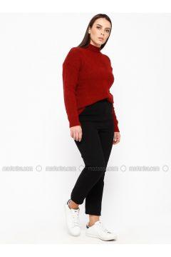 Black - Plus Size Pants - RMG(110322976)
