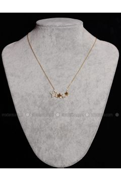 Gold - Necklace - By Geda(110328766)