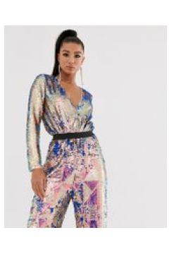 TFNC - Bodysuit mit Wickeldesign vorne und mehrfarbigen Pailletten - Mehrfarbig(93993069)