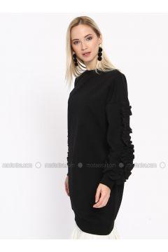 Cotton - Crew neck - Black - Sweat-shirt - Missemramiss(110330937)