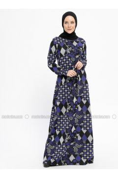 Purple - Multi - Crew neck - Unlined - Viscose - Dresses - XTREND(110329806)