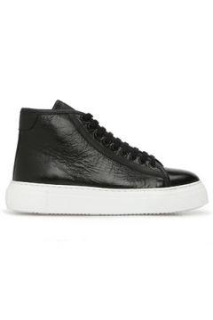 Academia Kadın Siyah Dokulu Deri Sneaker 35(123086034)