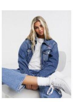 Tommy Jeans - Giacca trucker oversize di jeans lavaggio blu medio(120791632)