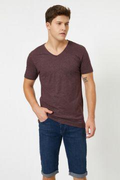 Koton Erkek V Yaka T-Shirt(118369540)