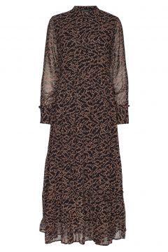 Selina Long Dress Maxikleid Partykleid Braun SOFT REBELS(114163385)