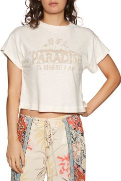 T-Shirt à Manche Courte Femme Billabong Paradise All Day - Salt Crystal(118484486)