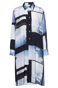 Free Shirt Kleid Knielang Blau HOPE(117615897)
