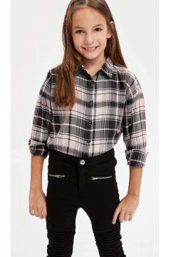 DeFacto Kız Çocuk Ekose Uzun Kollu Gömlek(125917000)