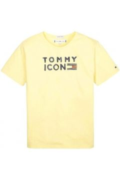 T-shirt enfant Tommy Hilfiger Kids TOMMY FLAG ICON S/S TEE GLITTER(115498185)