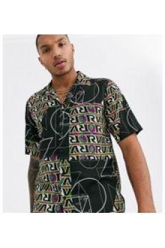 Reclaimed Vintage - Camicia con stampa patchwork-Nero(120276106)