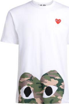 T-shirt Comme Des Garcons T-Shirt blanc avec coeur camouflage(115637813)