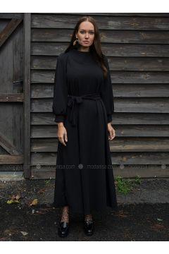 Black - Crepe - Dresses - Ayşen Özen(110327048)