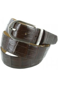 Ceinture Emporio Balzani ceinture cuir croco marron(115424199)