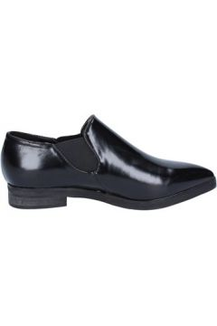 Chaussures Francescomilano slip on mocassins noir cuir BX327(115442524)