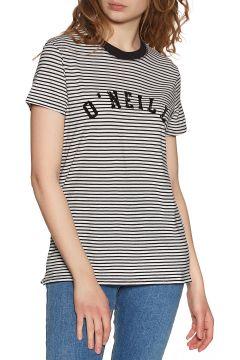 T-Shirt à Manche Courte Femme O\'Neill Lw Essentials Stripe - White Black(111325579)