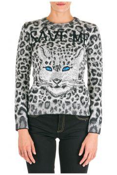 Women's jumper sweater crew neck round love me wild(118073252)