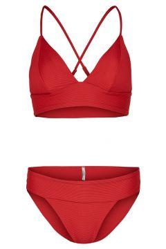 ONLY Driehoekige Bikini Dames Rood(118236814)