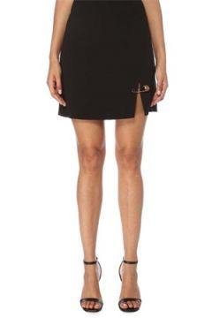 Versace Kadın Siyah Yırtmaç Detaylı Mini Etek 38 IT(120730931)