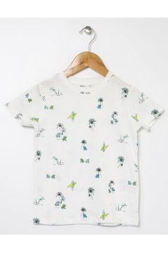 Koton Baskılı Bisiklet Yaka T-Shirt(113999254)