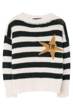 Pullover mit Streifen aus Wolle und Alpaka Bull(113866851)
