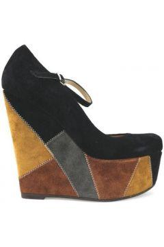 Chaussures escarpins Gianni Marra talons compensé noir multicolor daim AJ294(115399891)