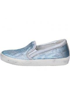 Chaussures Philippe Model slip-on bleu cuir argent paillettes AM818(115443144)