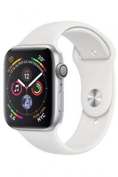 Apple Watch Series 4 Gps 44 Mm Gümüş Rengi Alüminyum Kasa Beyaz Spor Kordon(122927008)