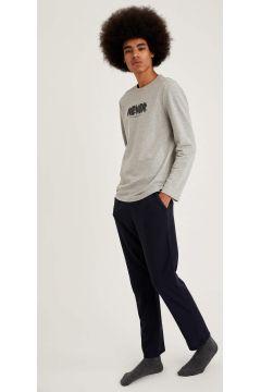 DeFacto Erkek Never Baskılı Regular Fit Pijama Takım(125931887)