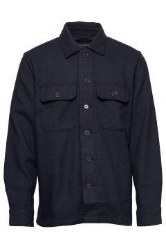 Slim Double-Weave Shirt Jacket Hemdjacke Blau BANANA REPUBLIC(116469571)
