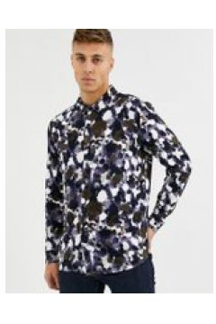 Native Youth - Camicia con stampa astratta-Navy(120280749)