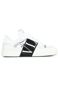 Valentino Garavani Kadın VL7N Siyah Beyaz Logolu Deri Sneaker 36 EU(127770402)