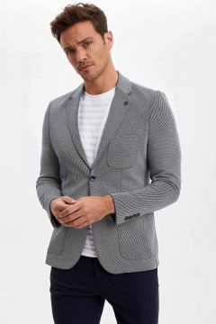 DeFacto Erkek Desenli Slim Fit Blazer Ceket(119061023)